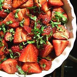 Ensalada agridulce de fresas