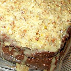 Crema de nuez y coco para pastel