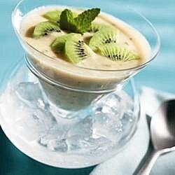Sopa fría de kiwi y melón
