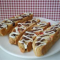 Biscotti de chocolate y cerezas