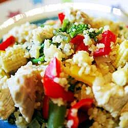 Ensalada de pollo con cuscús (couscous)