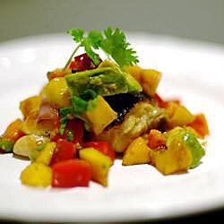 Salsa de mango y papaya