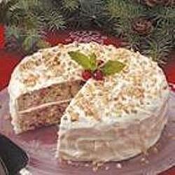 Pastel de arándano con betún de queso crema