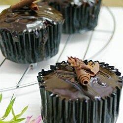 Cupcakes de chocolate con café