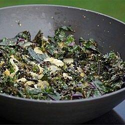 Kale salteado con ajo