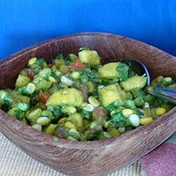 Salsa de elote con mango