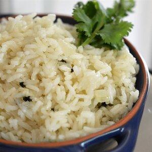 Arrroz brasileño con limón y cilantro