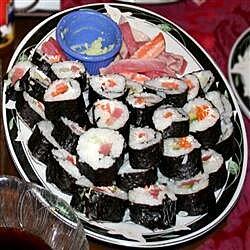 Sushi de cangrejo y queso crema