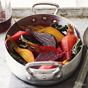 Wine-Poached Beets