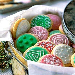Colorful Sparkling Sugar Cookies