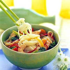 Lemongrass Chicken Over Noodles
