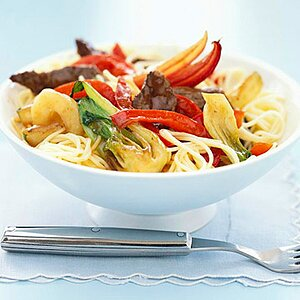 Noodles with Honey-Balsamic Beef