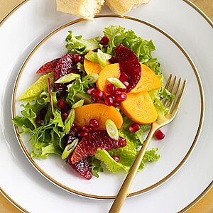 Persimmon, Blood Orange and Pomegranate Salad