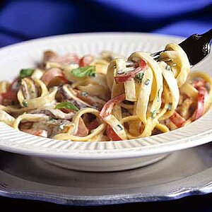 Mushroom and Gorgonzola Fettuccine