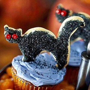Fudgy Brownie Cat Cupcakes