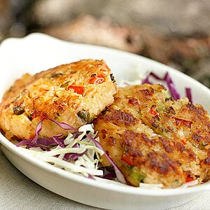 Smoked Trout Cakes