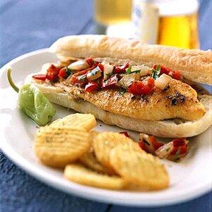 Grilled Catfish Sandwiches