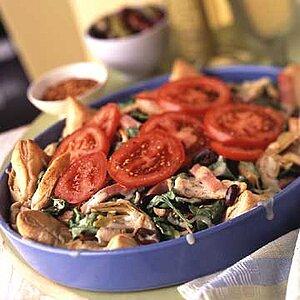 Deep-Dish Salad Pizza