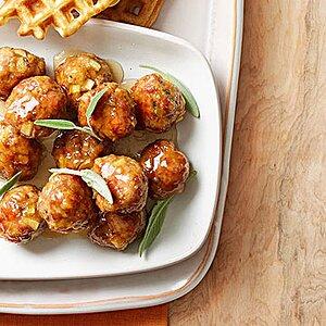 Maple-Apple-Glazed Breakfast Meatballs