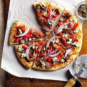 Beef and Blue Pizza