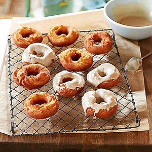 Old-Fashioned Potato Doughnuts with Coffee Glaze