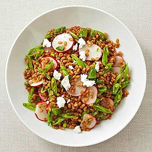 Wheat Berry, Sugar Snap Pea, Radish and Goat Cheese Salad