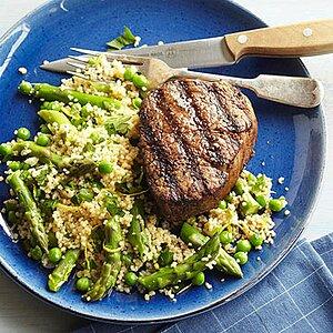 Spring Revival Couscous Salad with Filet Mignon