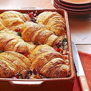 Stuffed Croissant Breakfast Strata