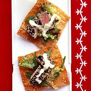 Sesame Seed-Crusted Tuna Appetizer