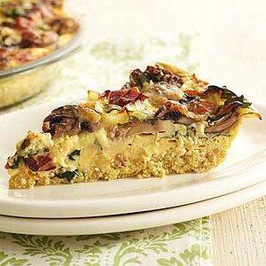 Hearty Vegetable, Bacon and Quinoa Quiche