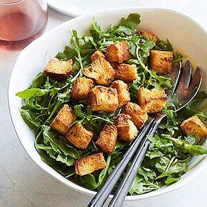 Arugula Salad with Brioche Croutons