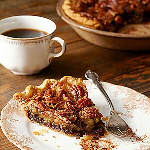 Black-Bottom Pecan Pie