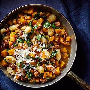 Squash and Sausage Gnocchi