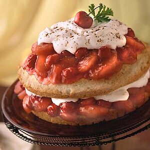 Apple-Cherry Shortcake