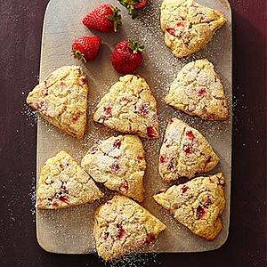 Gluten Free Lemon-Strawberry Cornmeal Scones