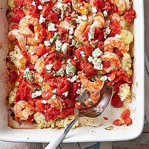 Shrimp and Cauliflower Bake