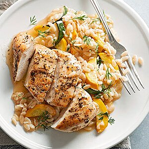 Herbed Chicken, Orzo, and Zucchini