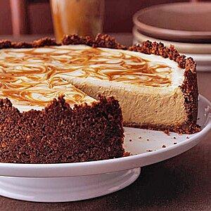 Pumpkin Cheesecake (with caramel swirl)