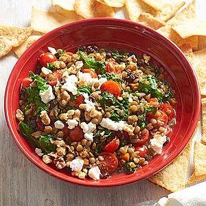 Mediterranean Lentil Skillet with Pita Chips