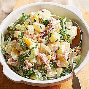 Greens, Eggs and Ham Potato Salad