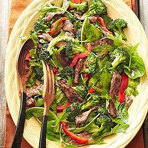 Gingered Beef & Broccoli Salad Bowl