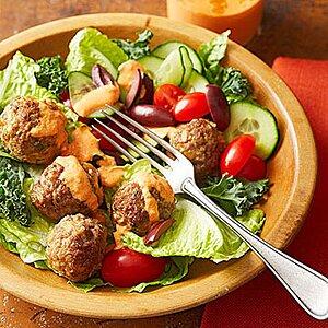 Herbed Lamb Meatball Salad