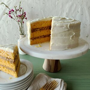 Carrot-Spice Cake with Coconut-Pecan Filling