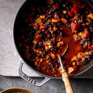 Smoky Beef, Black Bean and Corn Chili