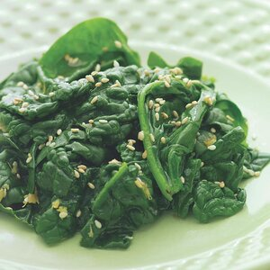 Sauteed Spinach with Toasted Sesame Oil