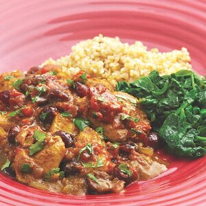 Curried Chicken with Fresh & Dried Cranberries