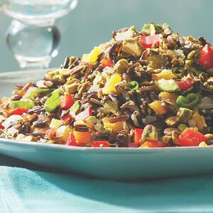 Wild Rice with Dried Apricots & Pistachios