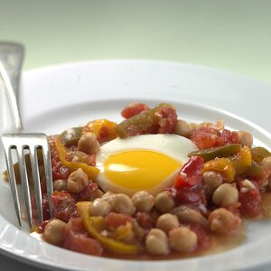 North African Vegetable Stew with Poached Eggs