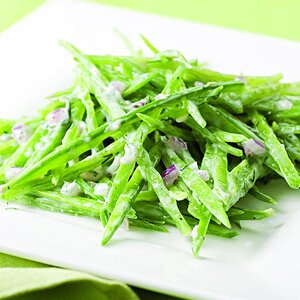 Snow Peas with Creamy Ranch Dressing