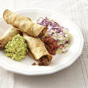 Oven-Fried Beef Taquitos for Two
